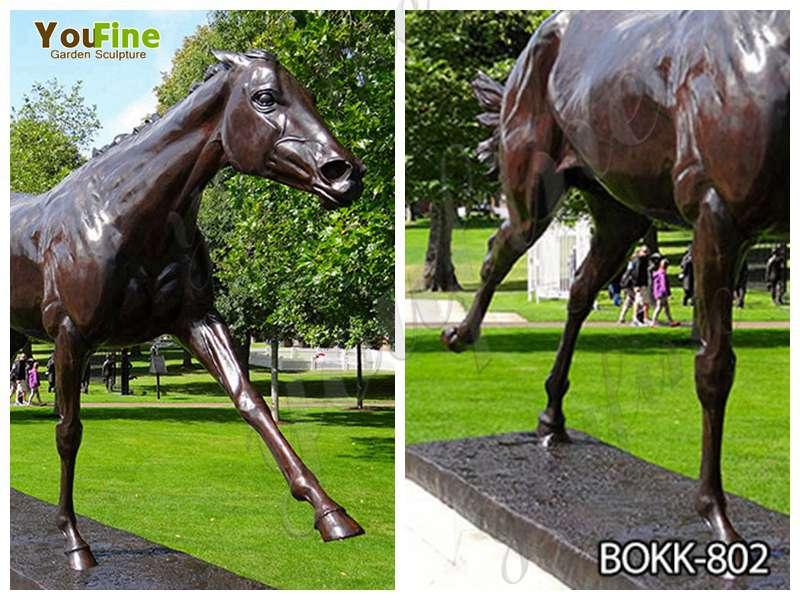 Cheap Price Outdoor Antique Bronze Horse Sculpture
