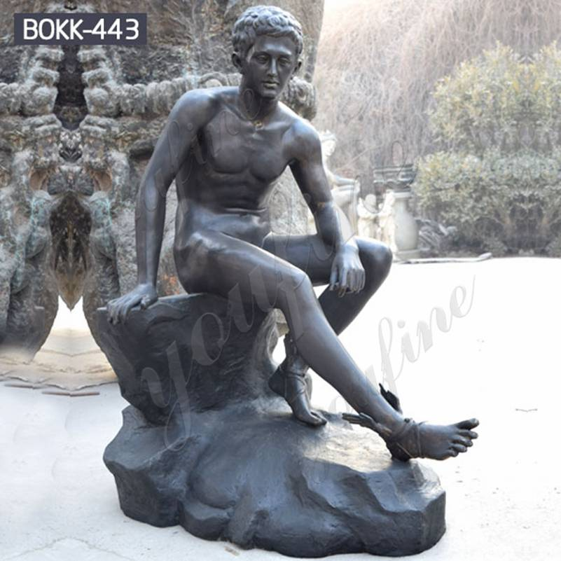 Classic Life Size Bronze Hermes Resting Statue for Sale