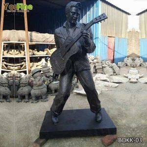 Custom Made Famous Singer Elvis Presley Bronze Statue for Sale BOKK-03