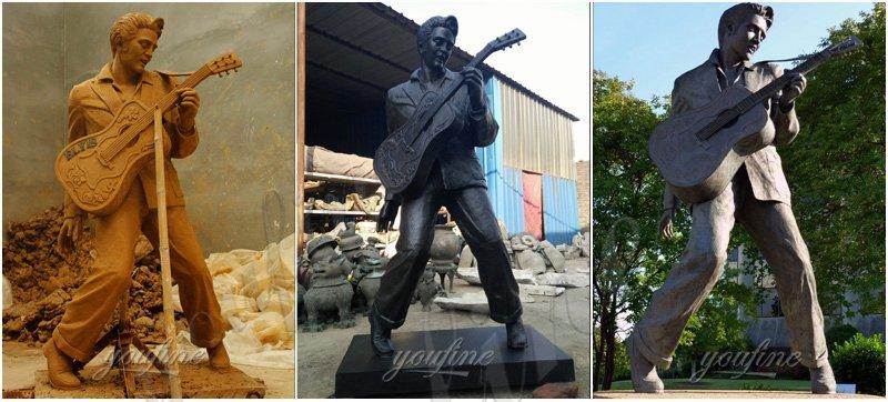 Elvis Presley bronze Statue detail