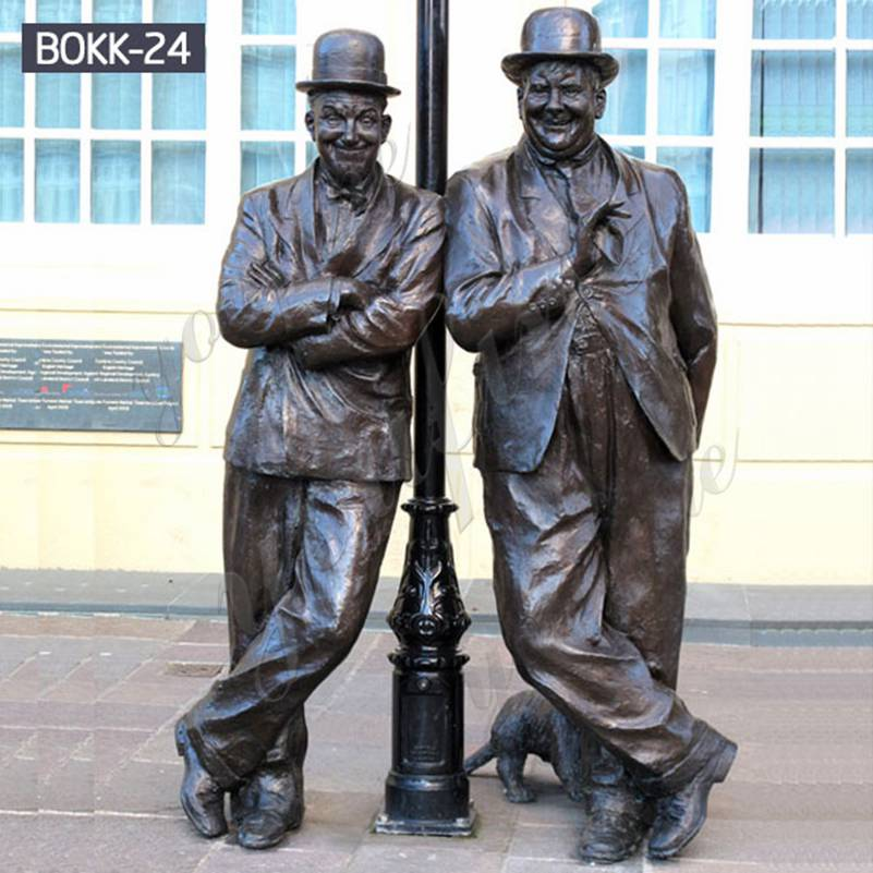 Famous Antique Bronze Laurel and Hardy Statue Replica Suppliers