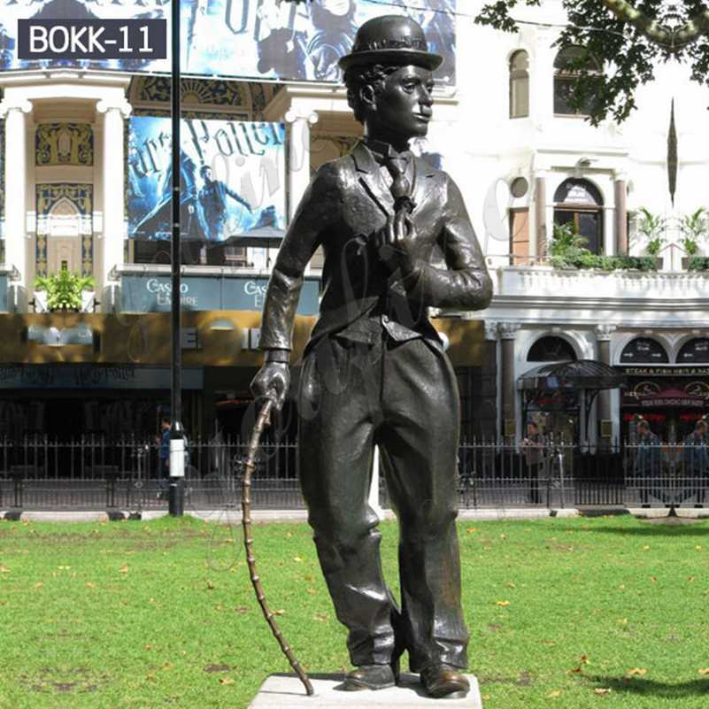 Famous Life Size Bronze Charlie Chaplin Statue for Sale