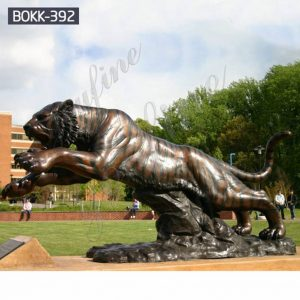 High Quality Large Metal Bronze Tiger Statue for Sale BOKK-392