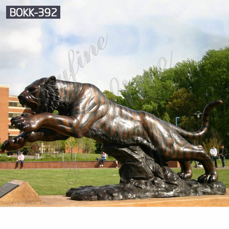 High Quality Large Metal Bronze Tiger Statue for Sale