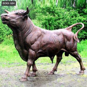 Large Outdoor Antique Strong Bronze Bull Statue for Sale BOKK-684