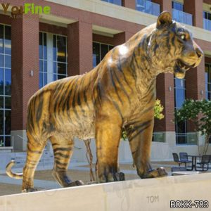 Large Outdoor Bronze Tiger Statue for Garden Decor Suppliers BOKK-783