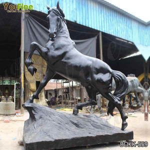 Outdoor Life Size Casting Bronze Horse Sculpture Suppliers BOKK-559