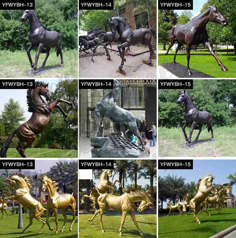 antique bronze horse statues for sale