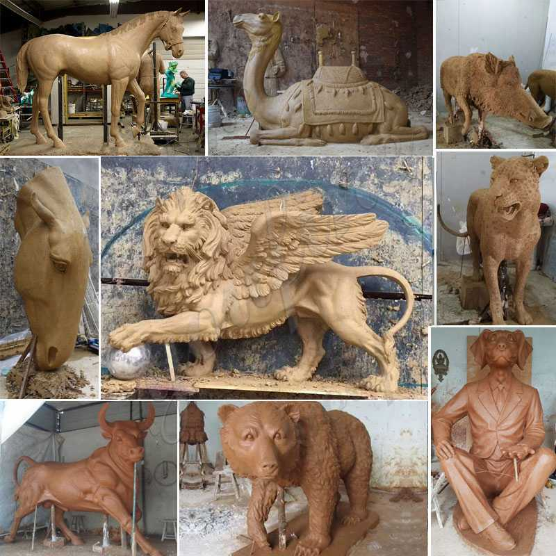 clay model of Bronze tiger statue for sale