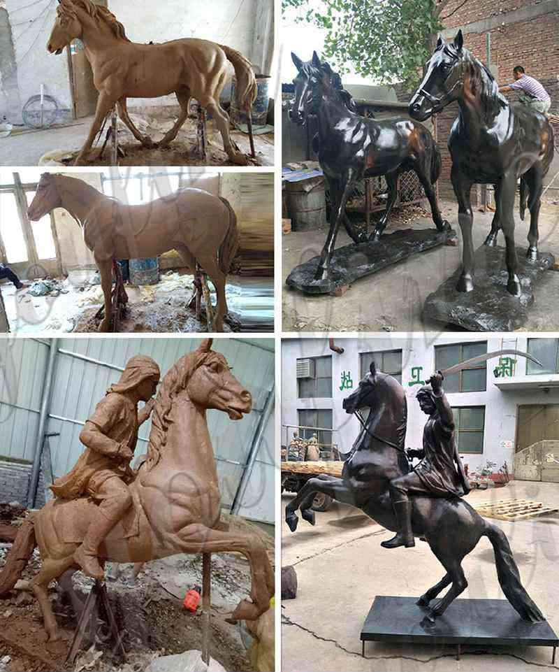 life size bronze garden horse statue