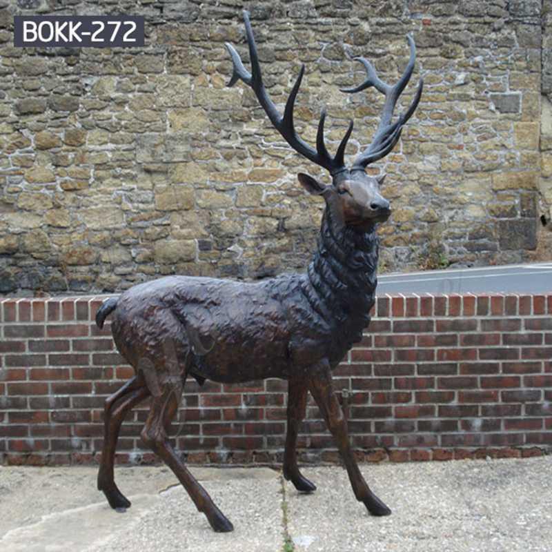 Antique Bronze Stag Statue for Garden