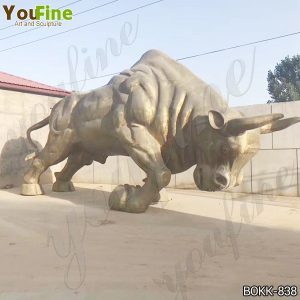 Antique Large Strong Bronze Bull Sculpture from Factory Supply BOKK-838