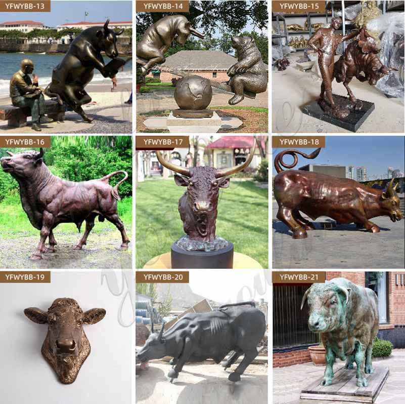 Bronze Life Size Bull Statue for Outdoor Garden Decor