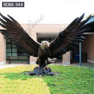 Outdoor Large Winged Bronze Eagle Statue for Sale BOKK-344