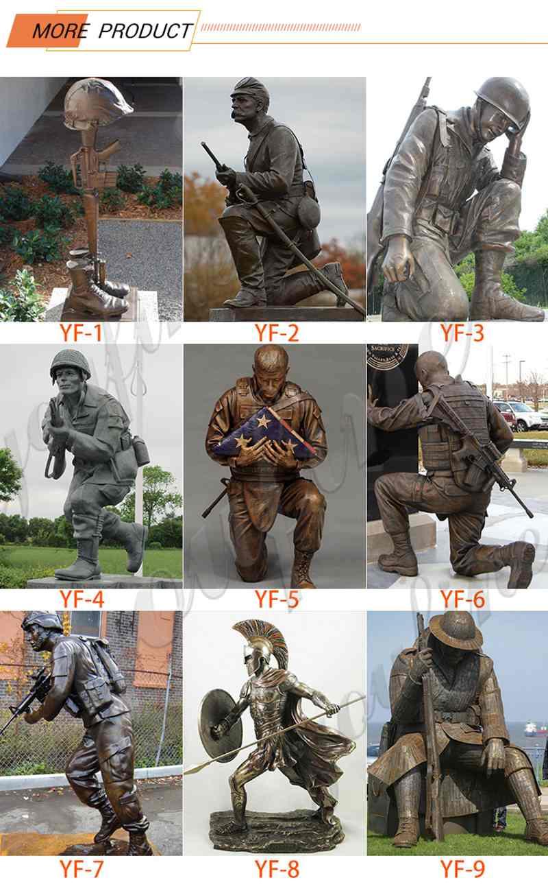 Bronze military memorial statue