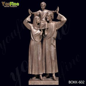 Catholic Cast Bronze Holy Family Outdoor Statue for Sale BOKK-602