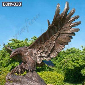 Cheap Price Outdoor Large Bronze Eagle Statue Wholesale BOKK-338