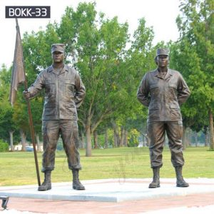 Customized Life Size Bronze Soldier Garden Statues Suppliers BOKK-33