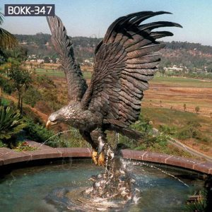 Factory Supply Antique Outdoor Bronze Eagle Statues for Sale BOKK-347