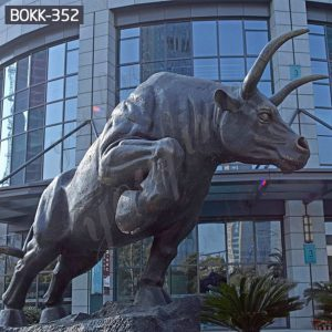 Factory Supply Large Wildlife Bronze Bull Statue for Sale BOKK-352