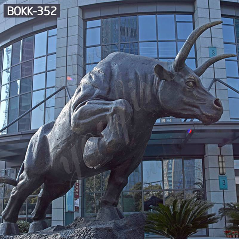 Factory Supply Large Wildlife Bronze Bull Statue for Sale