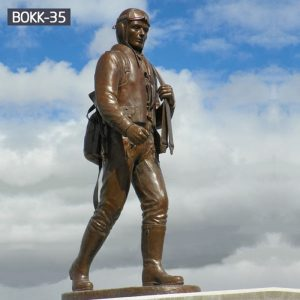 High Quality Outdoor Memorial Bronze Soldier Statue Suppliers BOKK-35