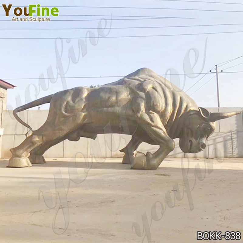 Large Strong Bronze Bull Sculpture from Factory Supply
