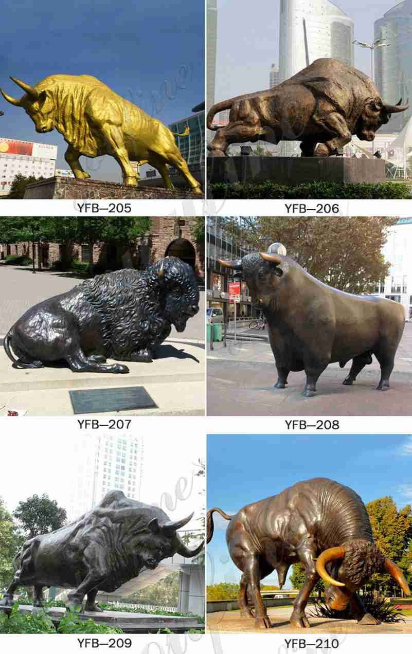 Large Wildlife Bronze Bull Statue for Sale