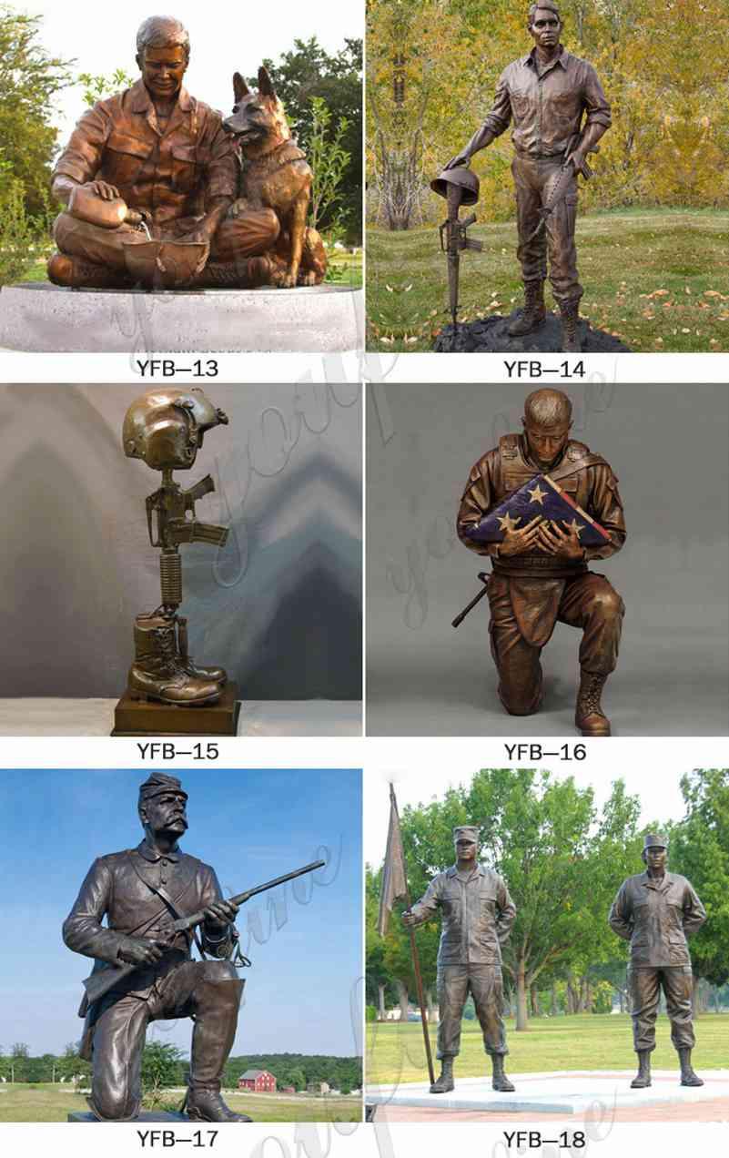 Life Size Bronze Military Memorial Statue