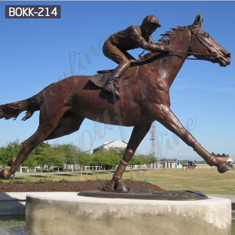 Life-Size-Custom-Made-Bronze-Racing-Horse-with-Jockey-Statue-Design-Horse-Garden-Sculpture-for-Sale-BOKK-214