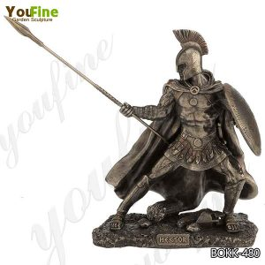 Life Size Customized Trojan Warrior Bronze Statue for Sale BOKK-480