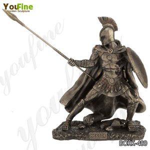 Life Size Customized Trojan Warrior Bronze Statue for Sale BOKK-480