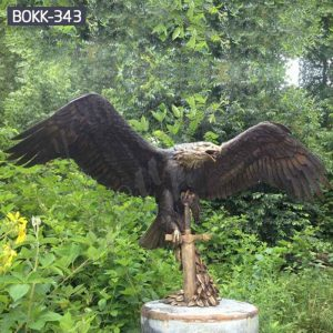 Outdoor Life Size Bronze Eagle Statue Wholesale BOKK-343