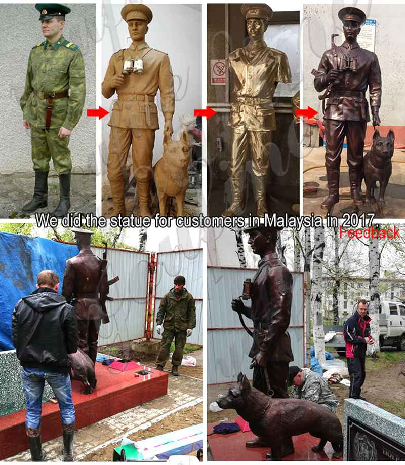 Outdoor Memorial Bronze Soldier Statue Suppliers