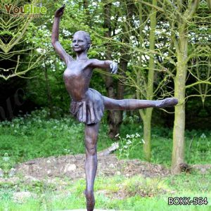 Beautiful Custom Made Bronze Ballet Girl Statue Designed for Sale BOKK-564