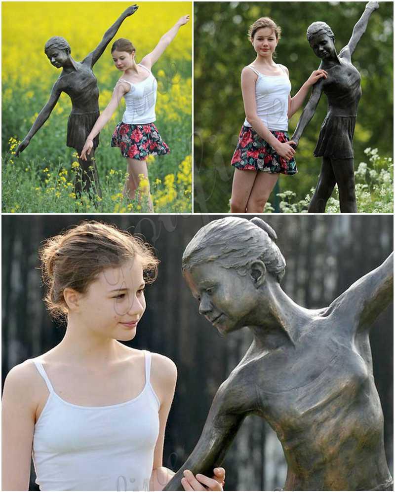 Beautiful Custom Made Bronze Ballet Girl Statue Designed