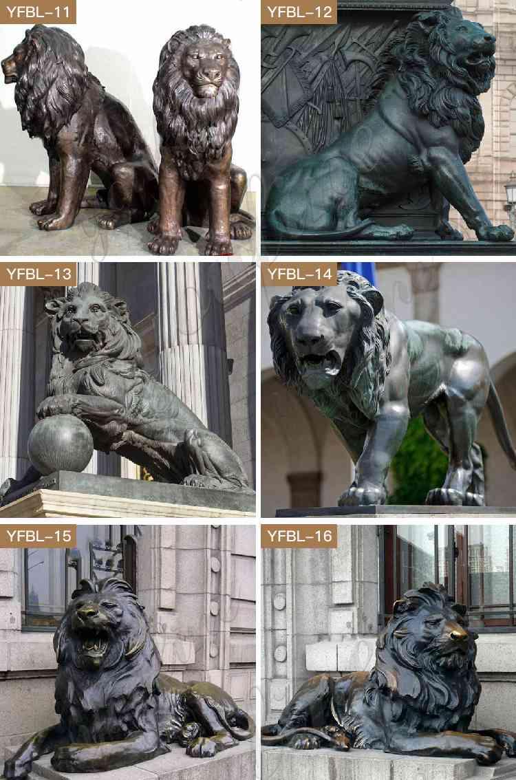 Bronze Guardian Lion Statues