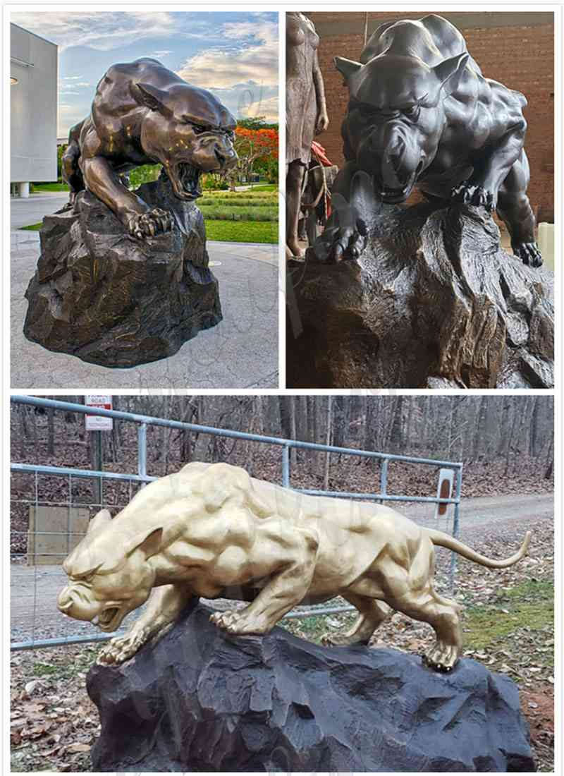 Bronze Sculpture Animal Leopard