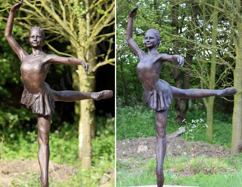 Custom Made Bronze Ballet Girl Statue Designed