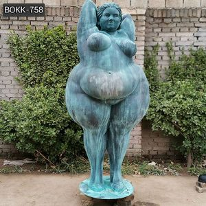 Custom Made Large Bronze Fat Woman Statue Suppliers BOKK-758