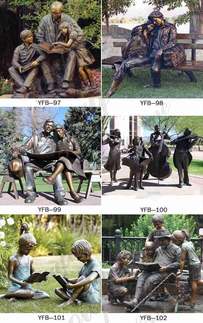 Custom bronze statue designed