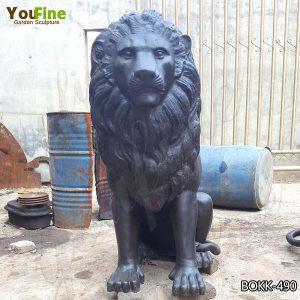 Outdoor Antique Bronze Lion Statue Home Decor for Sale BOKK-490