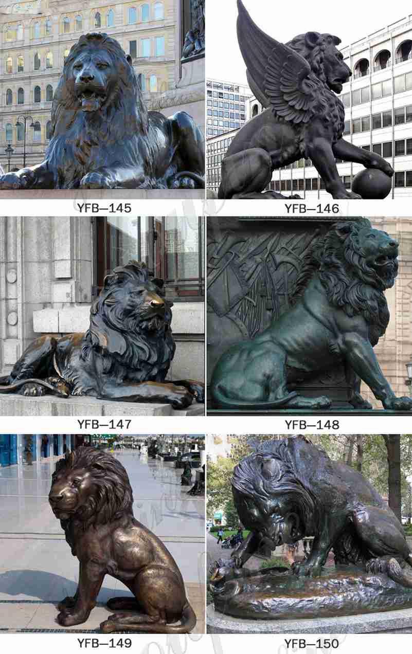 Outdoor Antique Bronze Lion Statues