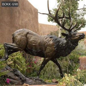 Outdoor Large Bronze Elk Garden Statue for Sale BOKK-698
