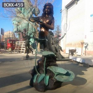 Outdoor Life Size Bronze Mermaid Statue Fountain for Sale BOKK-459
