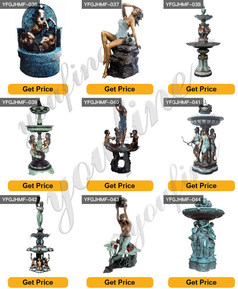 Outdoor Life Size Bronze Statuary Fountain for Sale