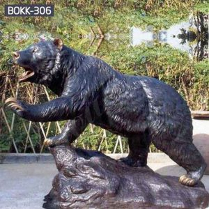 Outdoor Life Size Bronze Walking Bear Statue for Sale BOKK-306