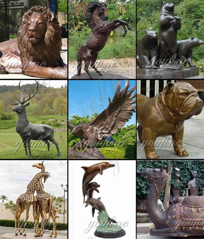 Outdoor Life Size Bronze Walking Bear Statue