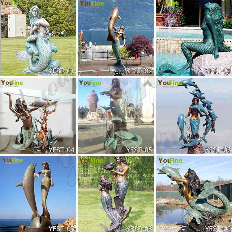 bronze mermaid statue for sale