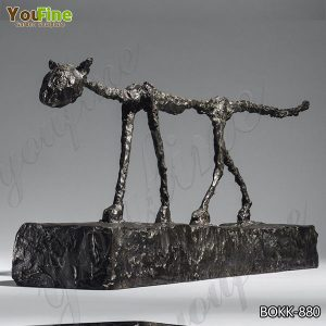 Modern Bronze Cat Sculpture by Giacometti from Factory Supply BOKK-880
